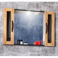 Зеркало Бриклаер Лофт 100 Метрополитен грей с двумя шкафчиками