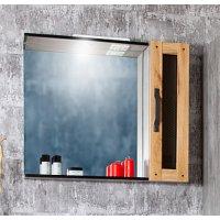 Зеркало Бриклаер Лофт 65 Метрополитен грей со шкафчиком