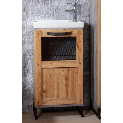 Комплект мебели Бриклаер Лофт 45 Метрополитен грей-6