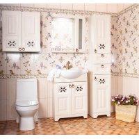 Комплект мебели Бриклаер Кантри 65 Бежевый дуб прованс (зеркало-шкаф с балюстрадой)