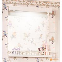 Зеркало Бриклаер Кантри 65 Бежевый дуб прованс с балюстрадой
