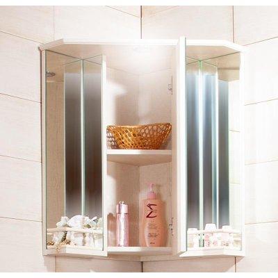 Зеркало-шкаф Бриклаер Кантри 60 Бежевый дуб прованс угловой с балюстрадой-2