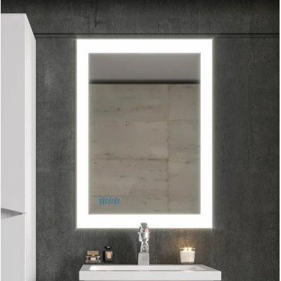 Зеркало Бриклаер Вега 55 с подсветкой и часами
