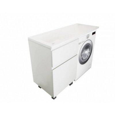Тумба с раковиной под стиральную машину Эстет Dallas Luxe 1150х482 напольная 2 ящика