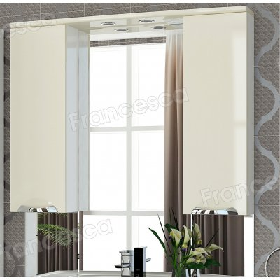 Шкаф-зеркало Francesca Виктория 100 бежевый