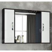 Шкаф-зеркало Francesca Eco Max 105 белый-венге