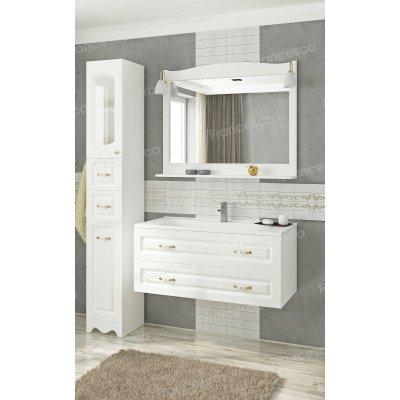 Комплект мебели Francesca Империя П 100 подвесной белый