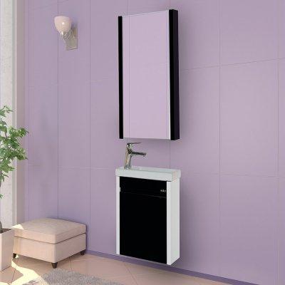 Комплект мебели Misty Мини 40 подвесная, черная