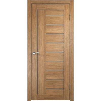 Дверь межкомнатная Linea 600х40х2000мм Дуб золотой со стеклом