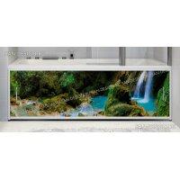 Фотоэкран под ванну Francesca Premium Водопад в лесу
