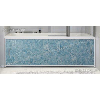Экран под ванну Francesca Premium голубой мрамор