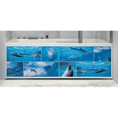 Фотоэкран под ванну Francesca Premium Дельфины
