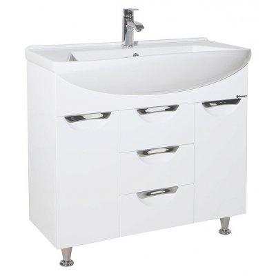 Тумба с раковиной для ванной Bellezza Альфа 90