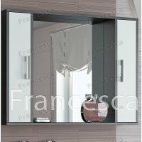 Зеркало-шкаф Francesca Eco 100 белый-венге