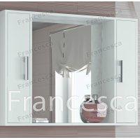 Шкаф-зеркало Francesca Eco 100 белый