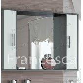 Зеркало-шкаф Francesca Eco 105 белый-венге