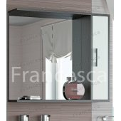 Зеркало-шкаф Francesca Eco 85 белый-венге