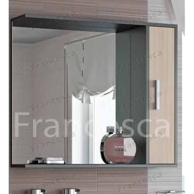 Шкаф-зеркало Francesca Eco 85 дуб-венге