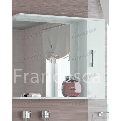 Зеркало-шкаф Francesca Eco 85 белый