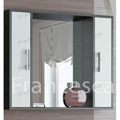 Зеркало-шкаф Francesca Eco 90 белый-венге