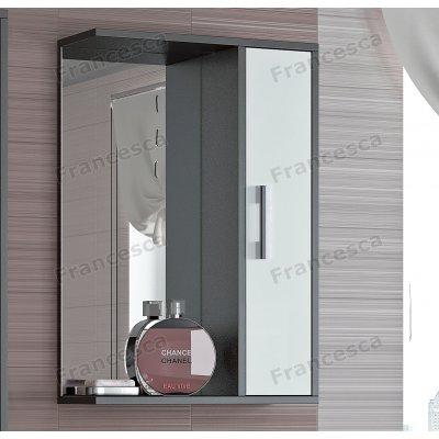 Зеркало-шкаф Francesca Eco 50 белый-венге