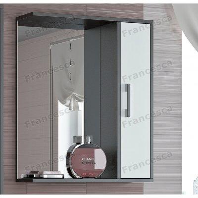 Зеркало-шкаф Francesca Eco 60 белый-венге