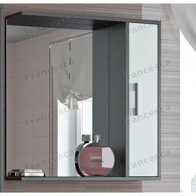 Зеркало-шкаф Francesca Eco 70 белый-венге
