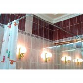 Карниз для ванны Г-образный 170x75см универсальный