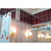 Карниз для ванны Г-образный 180x80см универсальный