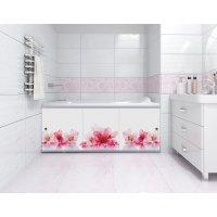 Экран под ванну раздвижной Розовые цветы 168 см