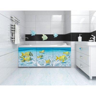 Экран под ванну раздвижной Цихлиды 168 см