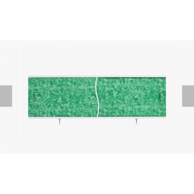 Экран под ванну раздвижной 150 28П зеленый мрамор