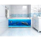 Экран под ванну раздвижной Л Игры дельфинов 148 см