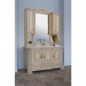 Комплект мебели для ванной Аллигатор Классик 125A зеркало на столешнице