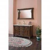 Комплект мебели для ванной Аллигатор Классик 125B зеркало в раме