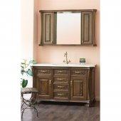 Комплект мебели для ванной Аллигатор Классик 125B зеркало со шкафчиками