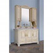 Комплект мебели для ванной Аллигатор Классик 125С зеркало на столешнице