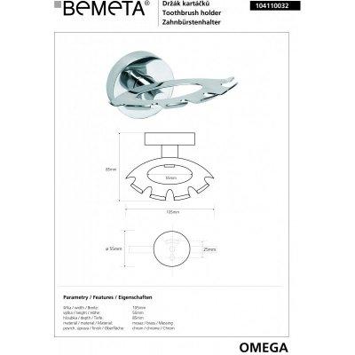 Держатель зубных щеток BEMETA OMEGA 104110032-1