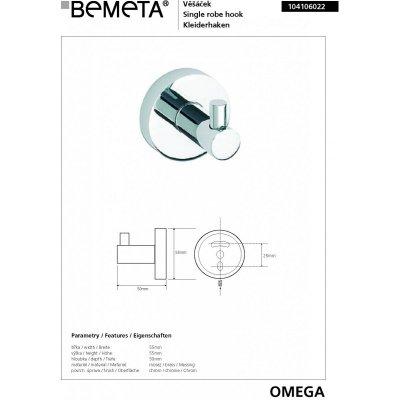 Крючок BEMETA OMEGA 104106022 55 мм-1