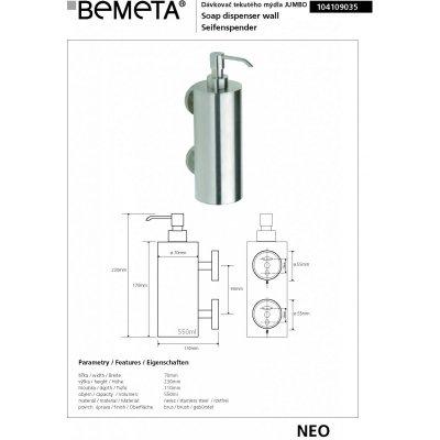 Настенный дозатор для жидкого мыла BEMETA NEO 104109035-1