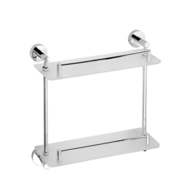 Полочка стеклянная двойная BEMETA OMEGA 104202122 400 мм