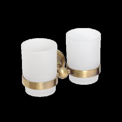 Двойной держатель стаканов BEMETA RETRO 144210028 Хром-золото