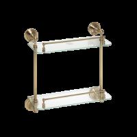 Полочка стеклянная двойная BEMETA RETRO 144301122 Хром