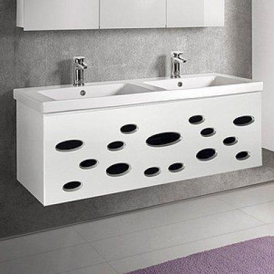 Тумба с раковиной для ванной Dreja Vitta 125 белый глянец