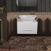 Тумба с раковиной для ванной Ferrara Лира 60
