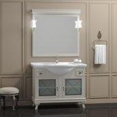 Комплект мебели для ванной Opadiris Борджи 105 слоновая кость