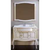 Комплект мебели для ванной Opadiris Лаура 120 белая с патиной