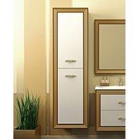 Шкаф-Пенал для ванной комнаты Opadiris Карат L золотая патина