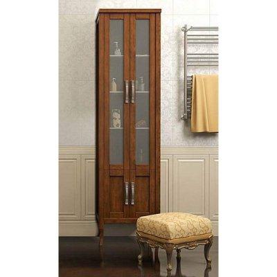 Шкаф-Пенал для ванной комнаты Opadiris Мираж 50 светлый орех