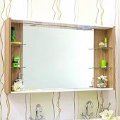 Зеркало для ванной Sanflor Ларго 120 белое